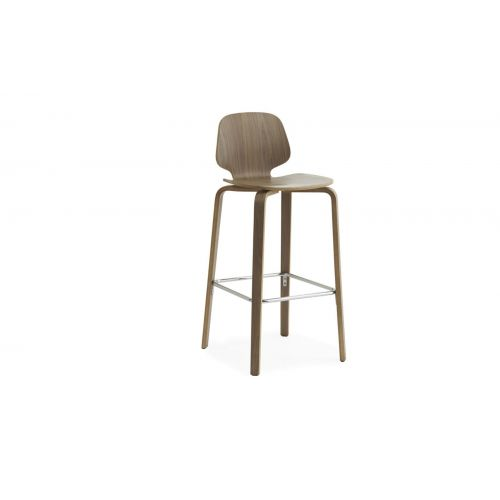 My Chair Barstool 75cm Walnut by NORMANN COPENHAGEN
