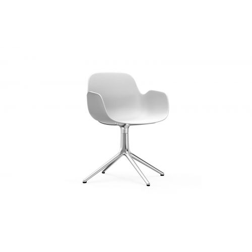 Form Armchair Swivel 4 Legs Alu by NORMANN COPENHAGEN