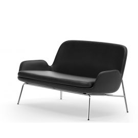 Normann Copenhagen Era Sofa Leather and Chrome Legs